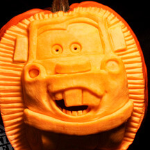 Carve your favorite cartoon.