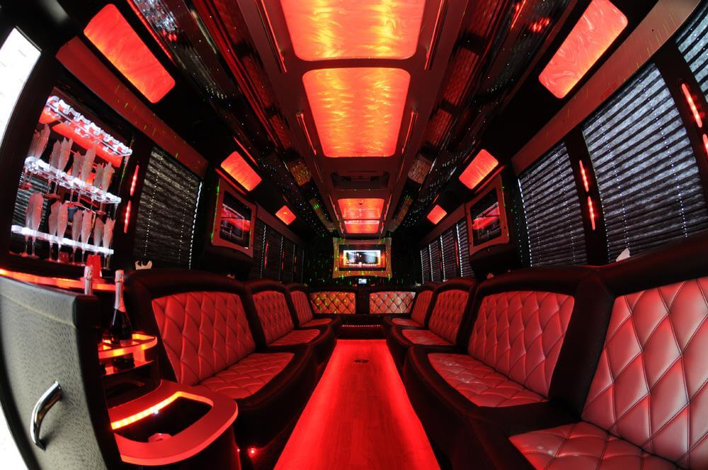 Get ready for a Valentine's Adventure on this red party bus
